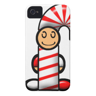 Candy Cane (plain) iPhone 4 Case-Mate Case