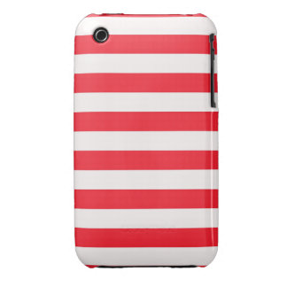 Candy Cane Red and White Vertical Stripes iPhone3 Case