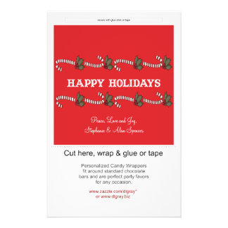Candy Cane Red Holiday Candy Wrappers 14 Cm X 21.5 Cm Flyer