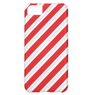 Candy Cane Red Stripes iPhone 5C Case