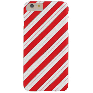 Candy Cane Red Stripes Barely There iPhone 6 Plus Case