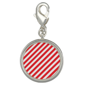 Candy Cane Red Stripes Photo Charm