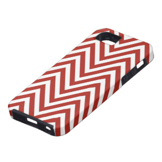 Candy Cane Red Zig Zag iPhone 5 Case