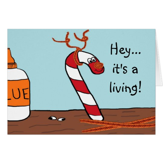 Candy Cane Reindeer Christmas Cards