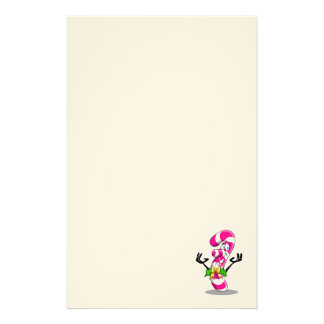 Candy Cane Smile Stationery Paper
