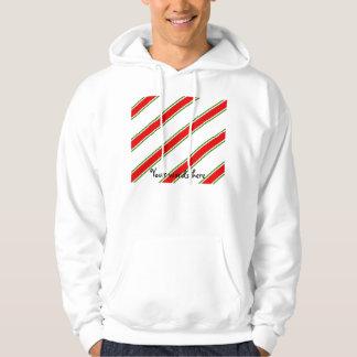 Candy cane stripe pattern sweatshirt
