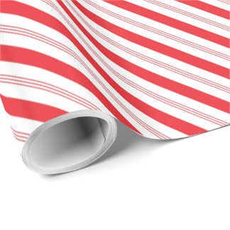 Candy Cane Stripe Pattern Wrapping Paper