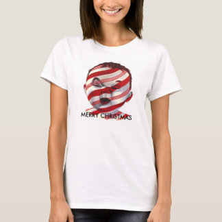 Candy Cane Striped Baby Face Christmas Shirt