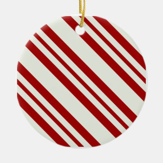 Candy Cane Striped Christmas Ornament