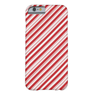 Candy Cane Striped Diagonal Barely There iPhone 6 Case