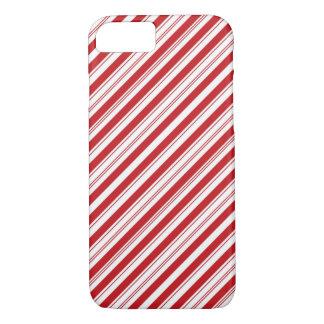 Candy Cane Striped Diagonal iPhone 7 Case