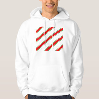 Candy cane striped pattern hooded pullover