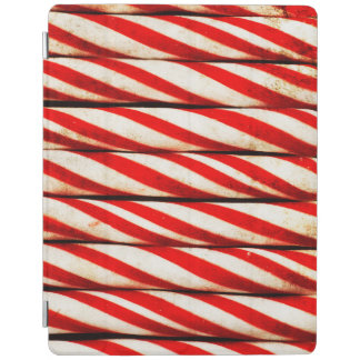 Candy Cane Striped Red White Christmas Decoration iPad Cover