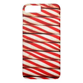 Candy Cane Striped Red White Christmas Decoration iPhone 8 Plus/7 Plus Case