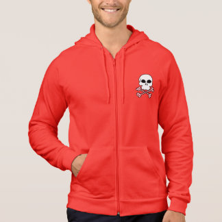 Candy Cane Striped Skull Crossbones Hooded Pullovers