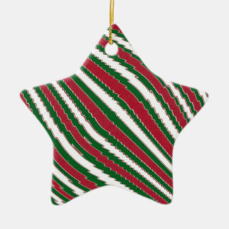 Candy Cane Striped Star Ornament