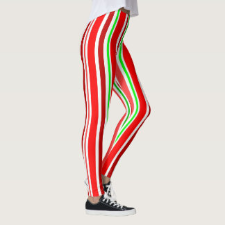 Candy Cane Stripes Are Slimming Red White Green Leggings
