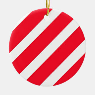 Candy Cane Stripes Christmas Ornament