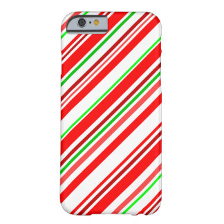 Candy Cane Stripes Christmas Red White Green Barely There iPhone 6 Case