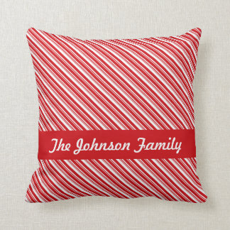 Candy Cane Stripes Cushion
