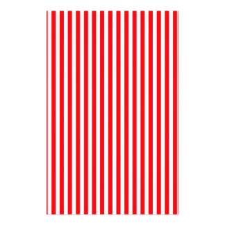 Candy Cane Stripes in Christmas Red and Snow White Custom Flyer