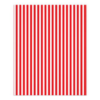 Candy Cane Stripes in Christmas Red and Snow White Flyer Design