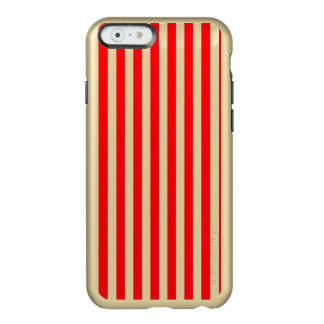 Candy Cane Stripes in Christmas Red and Snow White Incipio Feather® Shine iPhone 6 Case