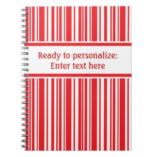 Candy Cane Stripes Notebooks