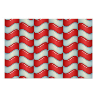 Candy cane stripes pattern poster