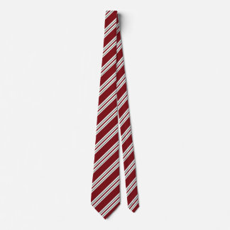 Candy Cane Stripes White Green Red Tie