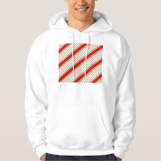 Candy cane stripes with red green snowflakes hoodie