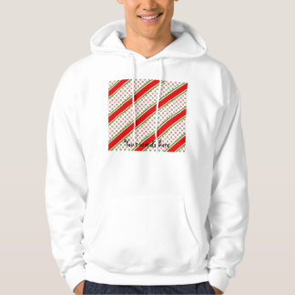 Candy cane stripes with snowflakes sweatshirt