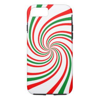 Candy Cane Swirl iPhone 7 Case