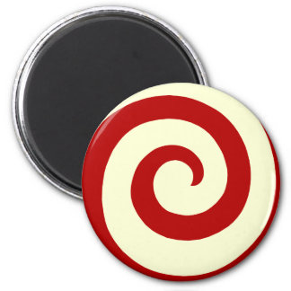 CANDY CANE SWIRL ROUND MAGNET