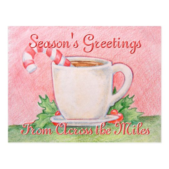Candy Cane Tea Postcard