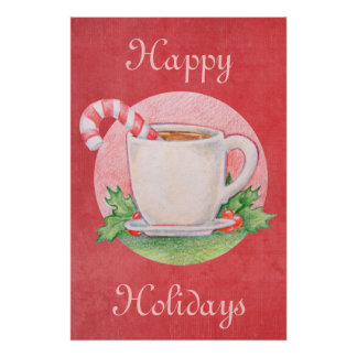 Candy Cane Tea Print