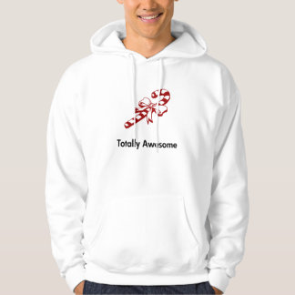 Candy Cane Totally Awesome Hooded Pullover