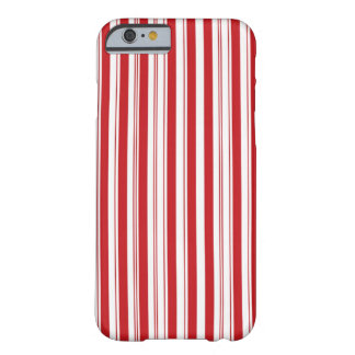 Candy Cane Vertical Stripes Barely There iPhone 6 Case