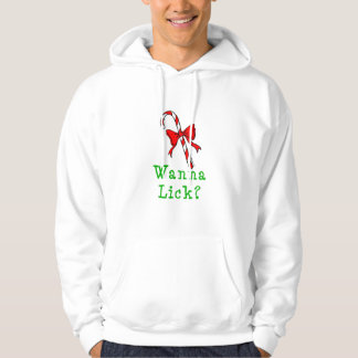 Candy Cane Wanna Lick Hooded Pullover