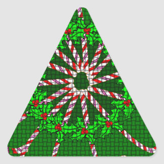 Candy Cane Weave Triangle Stickers