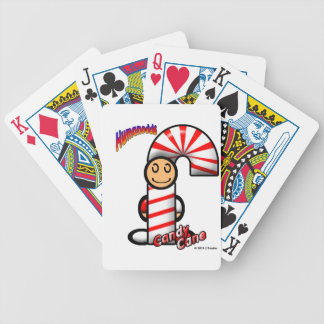 Candy Cane (with logos) Bicycle Playing Cards