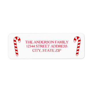 Candy Canes - Address Label