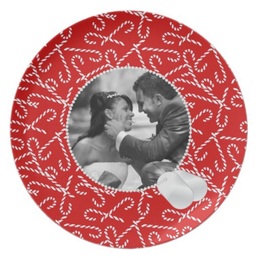 Candy Canes and Dog Tags Frame Photo Plate
