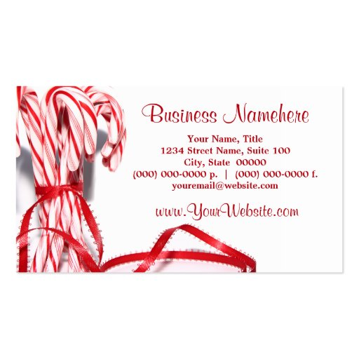 Candy Canes Business Cards