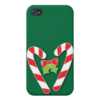 Candy Canes for Christmas iPhone 4/4S Case