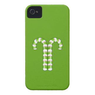 Candy Canes green BlackBerry Bold Case-Mate Barely