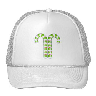 Candy Canes green Hat