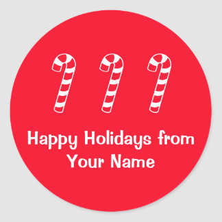 Candy Canes Holiday 4Tyler Round Sticker