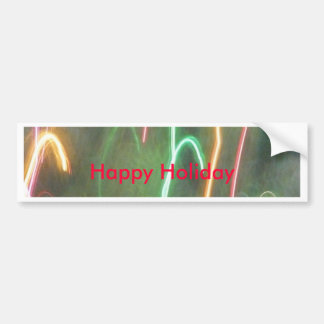 Candy Canes In Flight Bumper Sticker