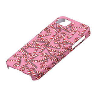 Candy Canes on Pink Christmas Custom iphone 5 Case